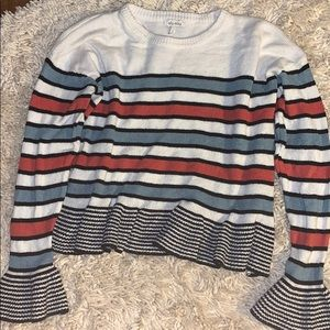 Ella moss sweater large striped